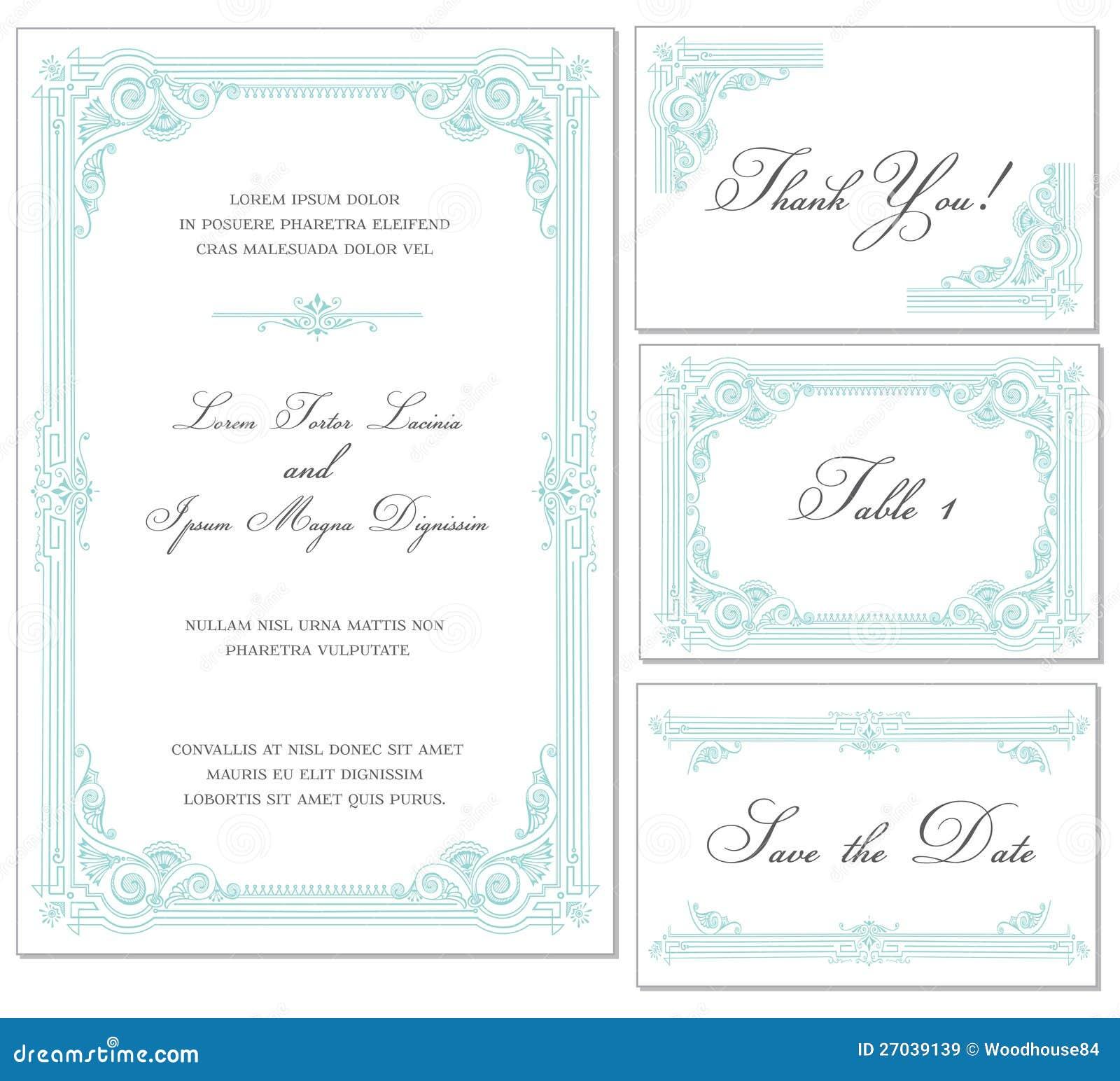 Vector Vintage Wedding Frame Set Royalty Free Stock Images ...