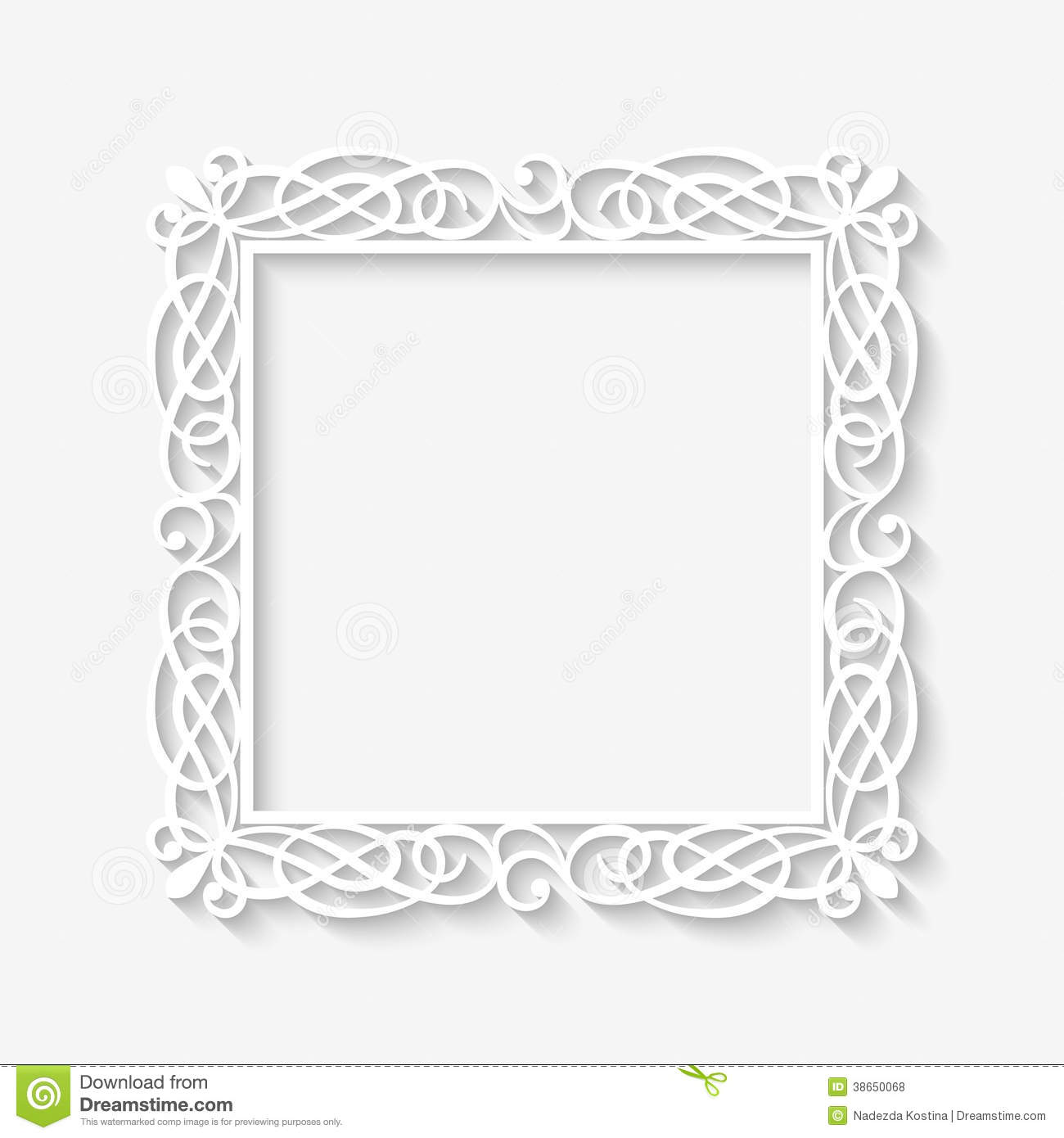 Vector Vintage White Frame Background Stock Vector - Illustration of ...
