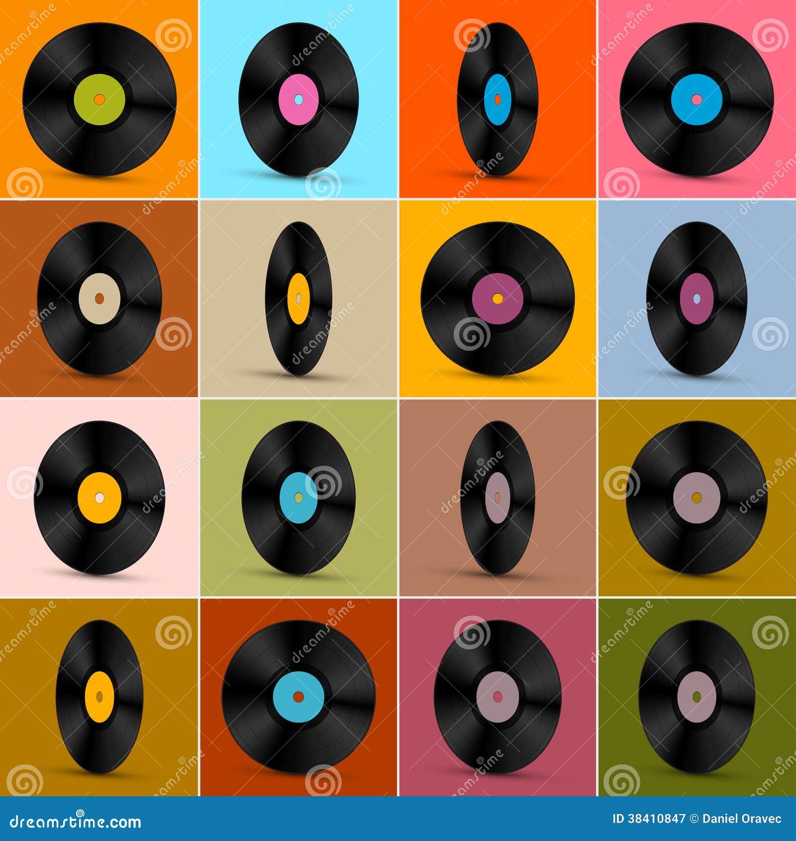 Vector Vinyl Record Disc Background