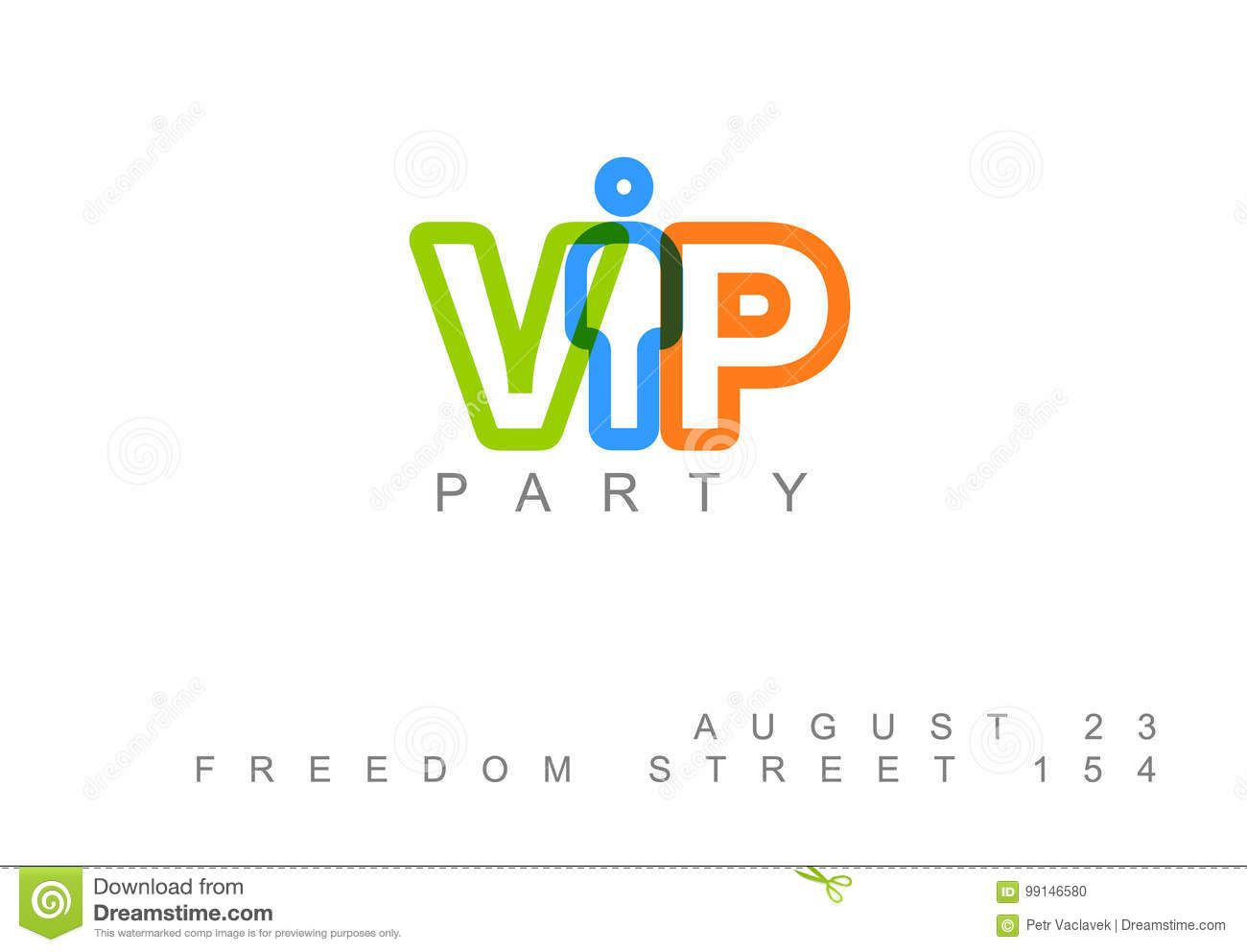 vector vip club party invitation template stock vector