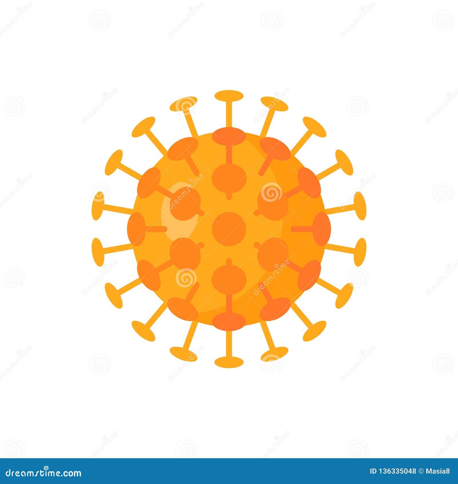 Pharmacy Logo Vector:  Vector Virus Icon In Simple Flat Style. Stock Vector
