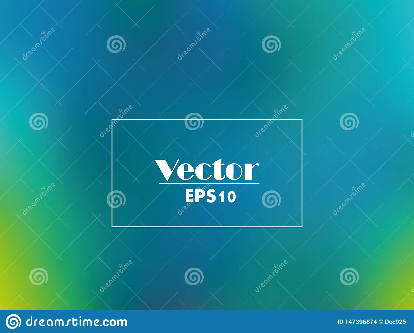 Vector vivid blurred emerald green gradient abstract background