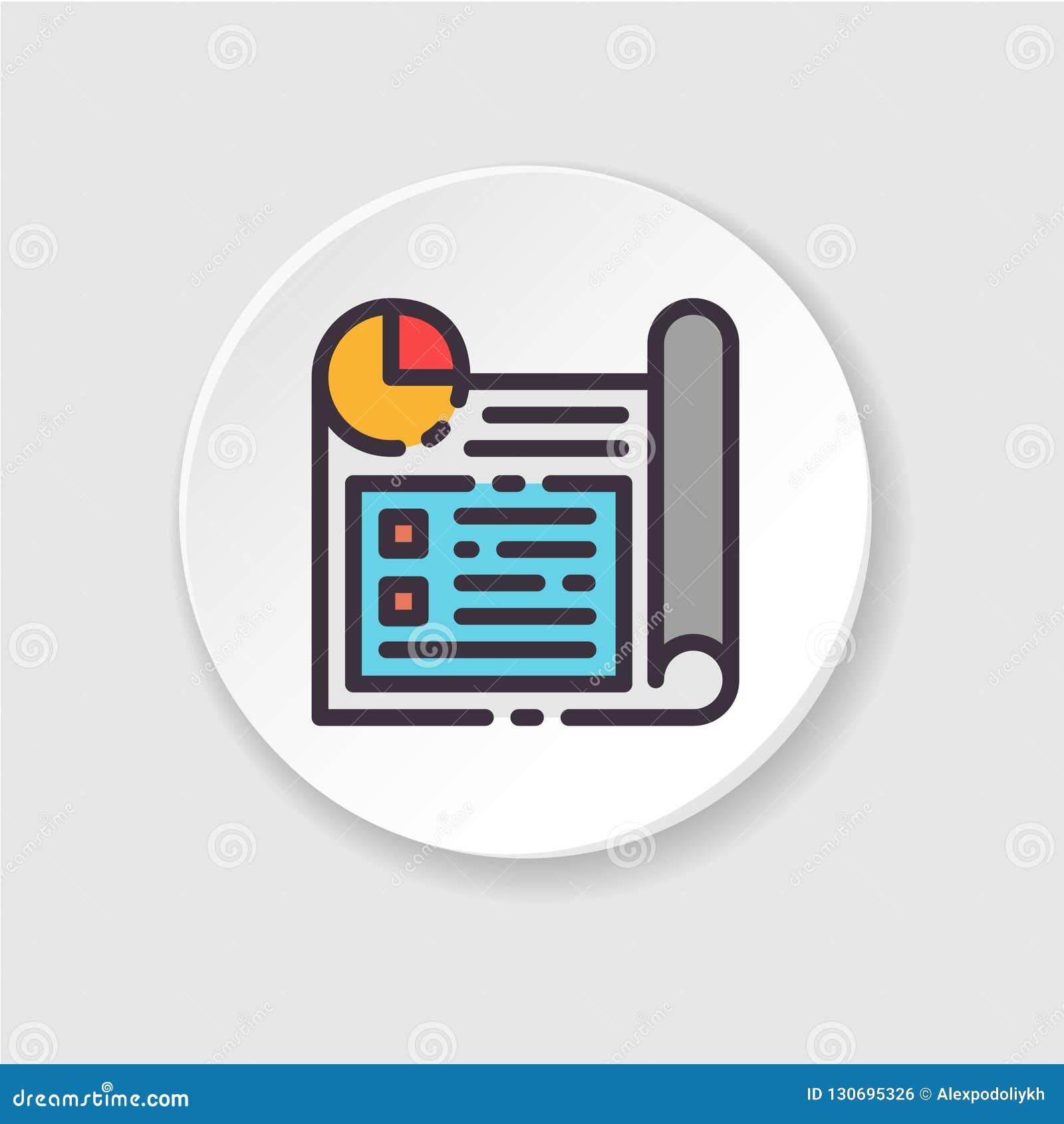 Vector vlakke pictogram bedrijfs planning Knoop voor Web of mobiele app