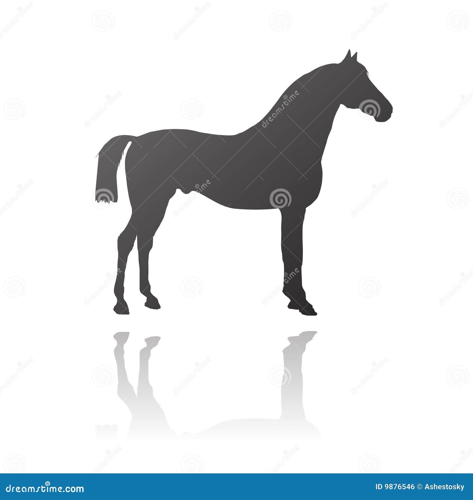 Vector volbloed- paard