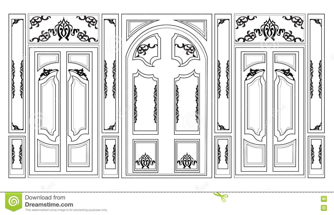 Vector Wainscoting Decorative Damask Ornamented Frames For ...
