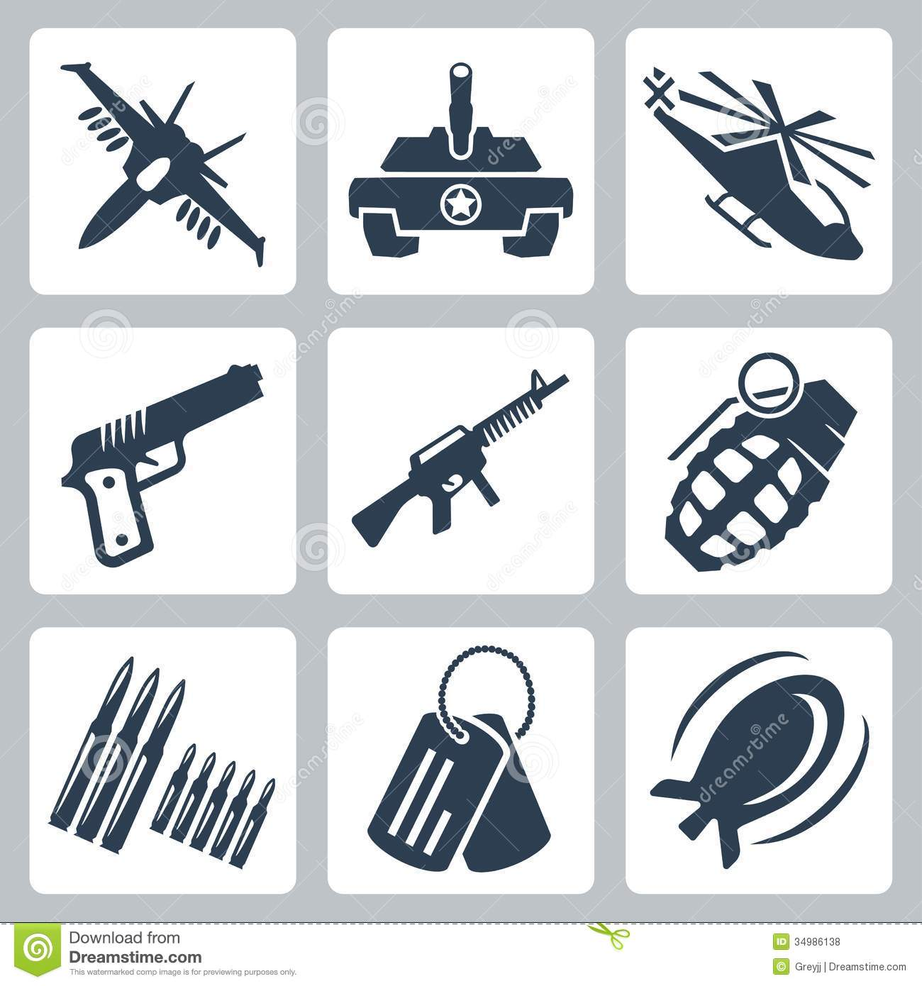 Vector War Icons Set Royalty Free Stock Photos Image