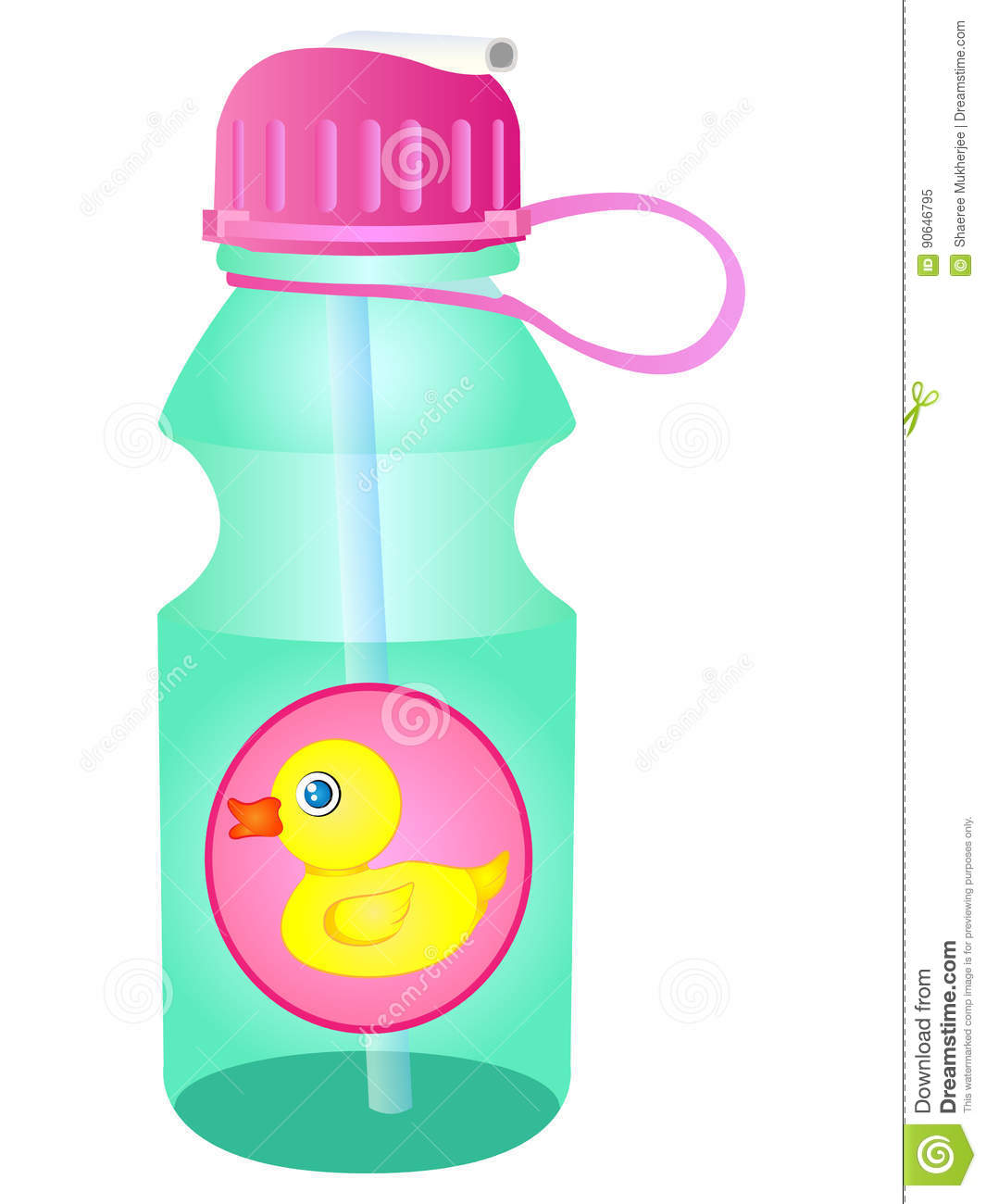 Water Bottle Graphic: Vector Water Bottle Sipper Stock Vector. Illustration Of
