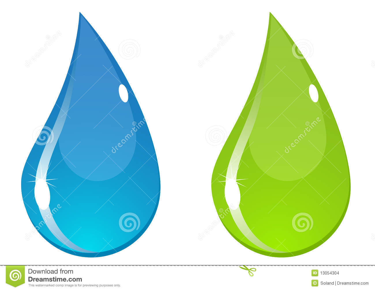 Vector Water Drop Stock Images Image 13054304