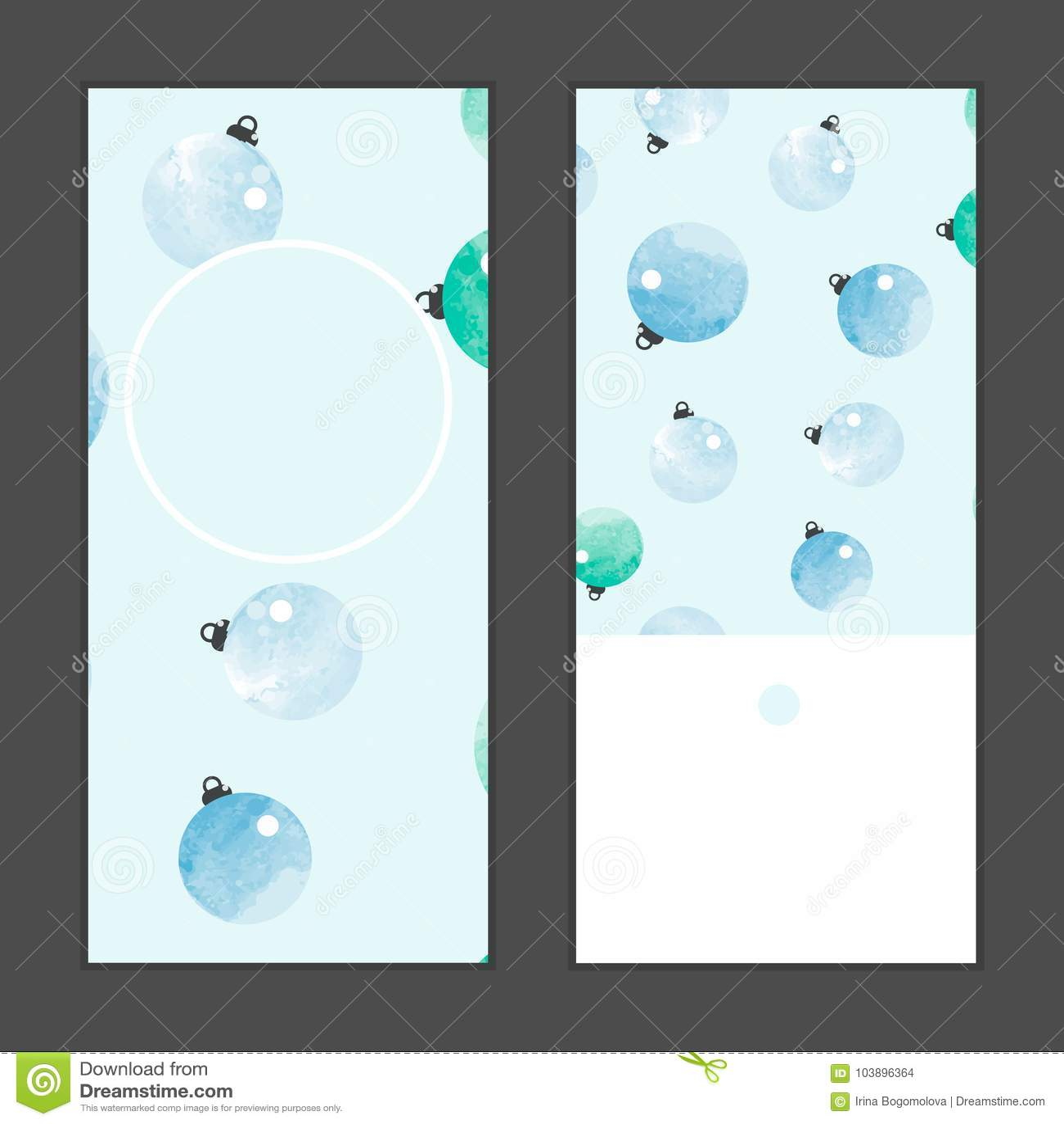 Vector watercolor balls vertical round frame pattern invitation vector watercolor balls vertical round frame pattern invitation christmas greeting cards set m4hsunfo
