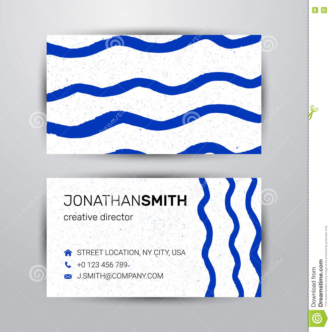 Vector Watercolor Corporate Identity Element Template For Two Side ...
