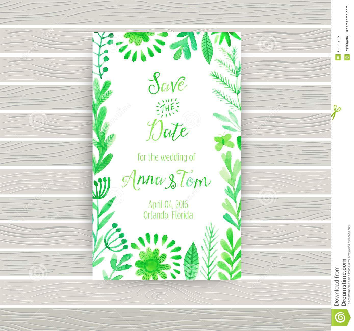 Vector watercolor invitation card with flowers and plants floral download vector watercolor invitation card with flowers and plants floral design original floral background m4hsunfo