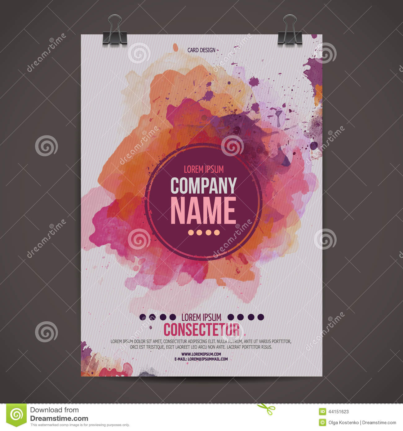 vector watercolor poster stock vector