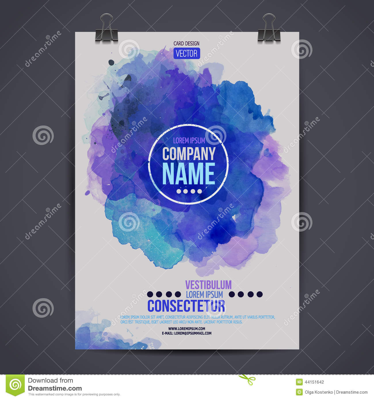 vector watercolor poster stock vector  illustration of