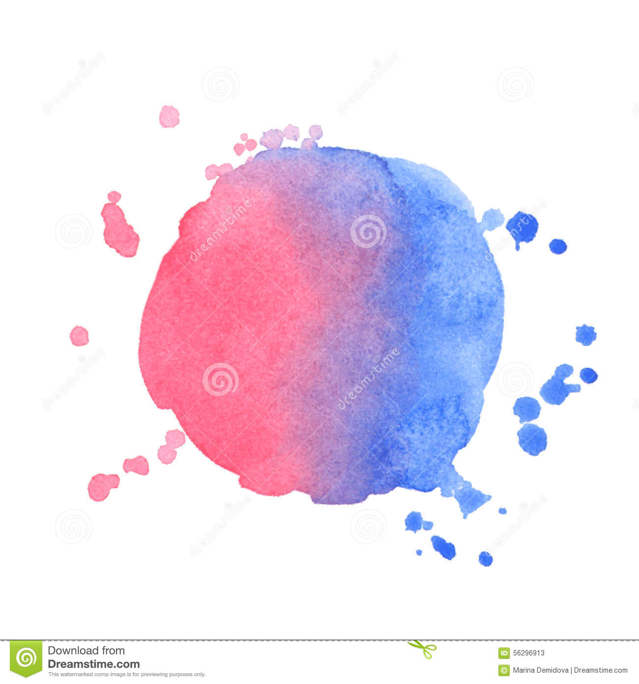 Watercolor splatter vector abstract watercolor background - Vector Watercolor Splash On White Background Stock Vector