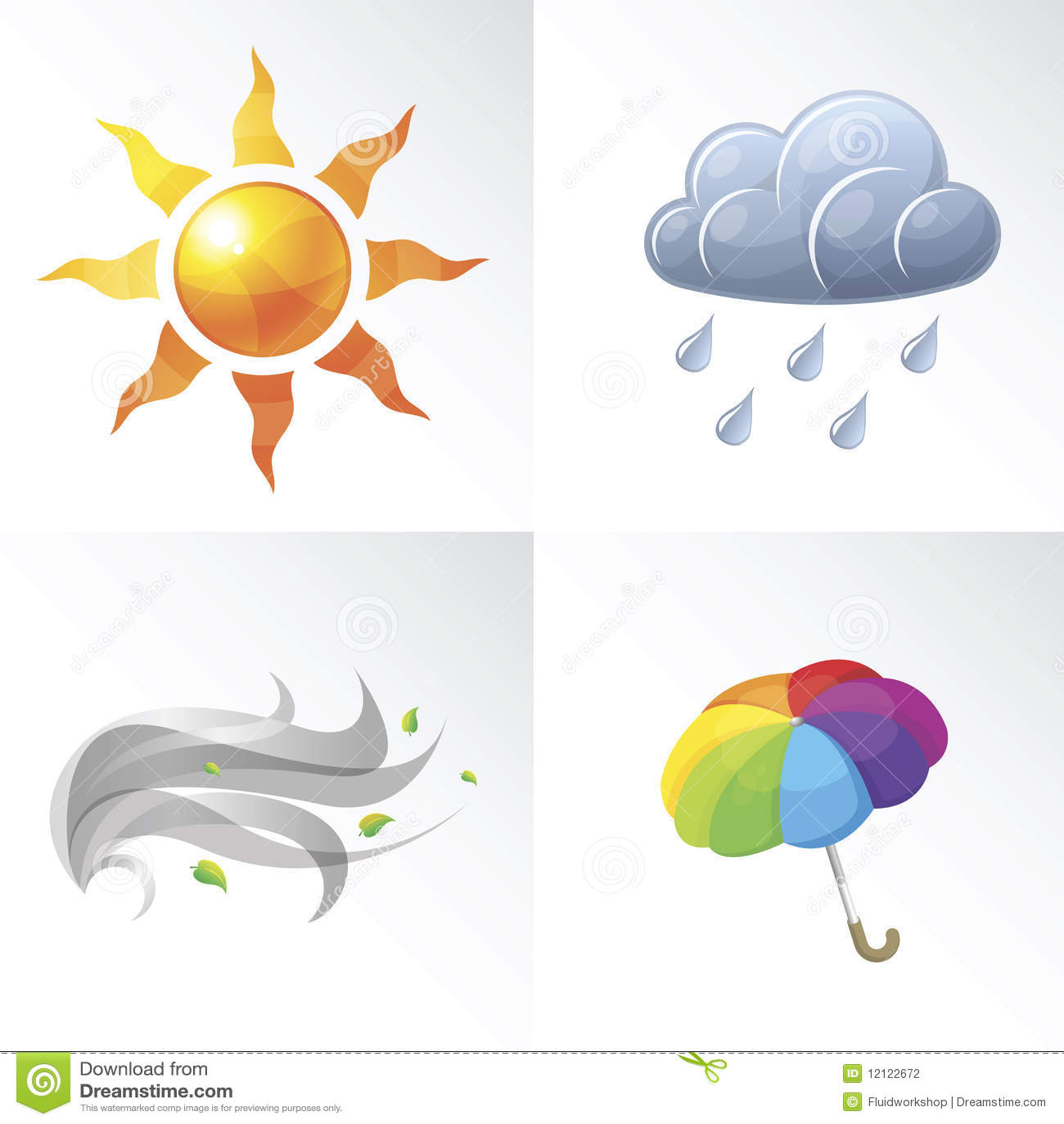 Stock Photography Vector Weather Symbols Image12122672 on Weather Forecast Symbols