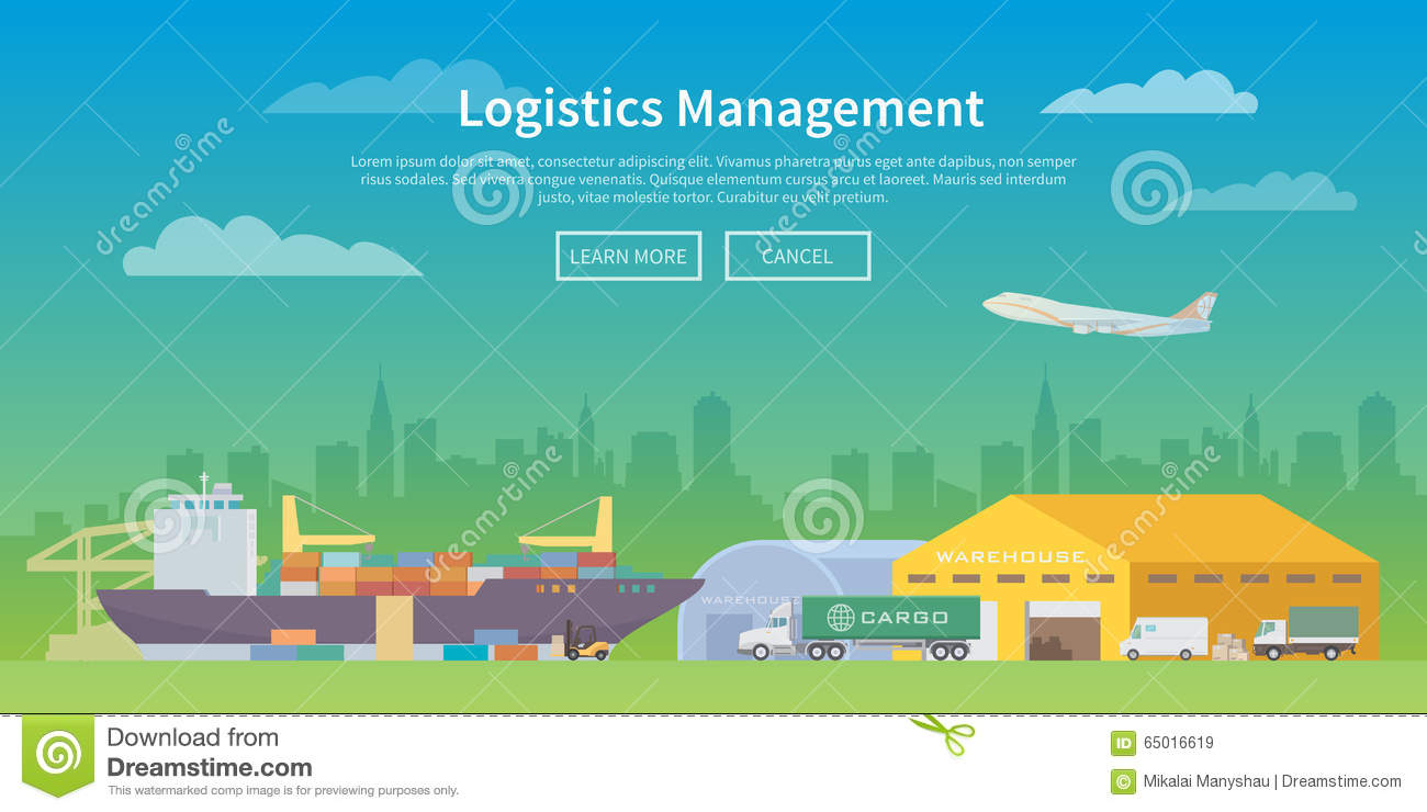 Vector Web Banner On The Theme Of Logistics. Stock Photo ...