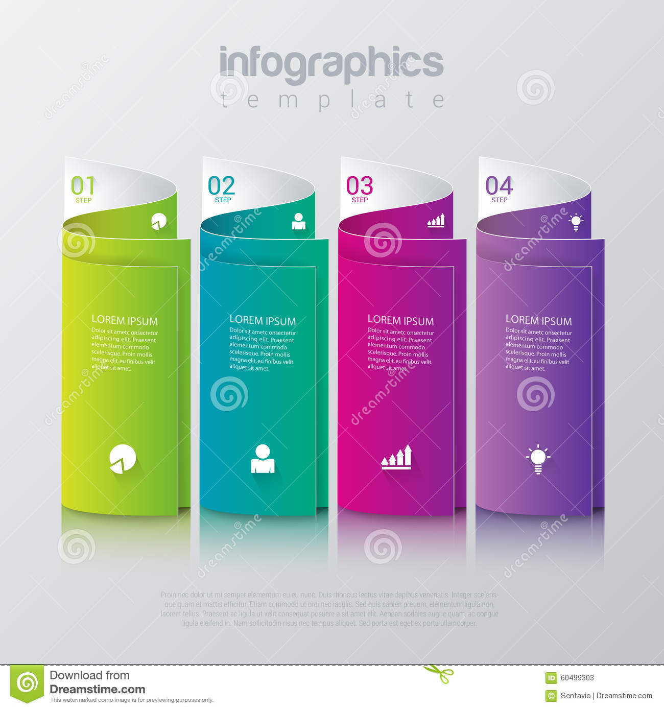 vector web corporate template services and infographic template