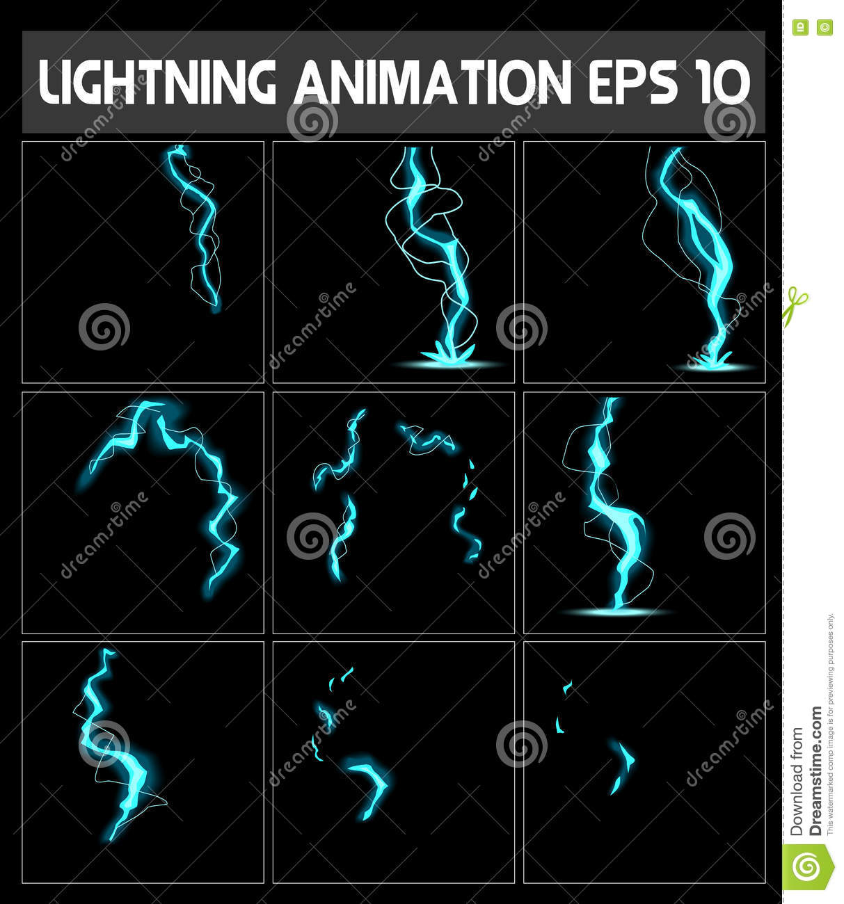 Download Vector Web Lightning Animation Game Of Stock