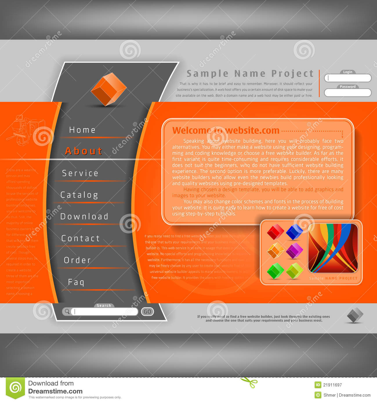 Vector Website Design Template Royalty Free Stock Photography ...