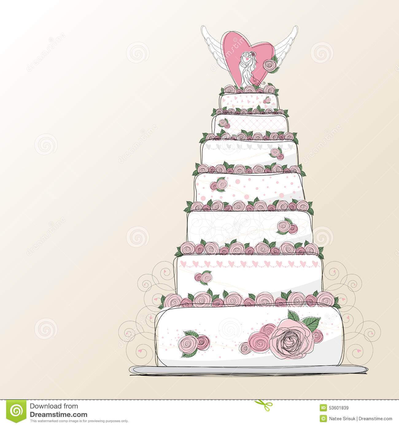 wedding cake vector vector wedding cake design stock vector image of green 26758