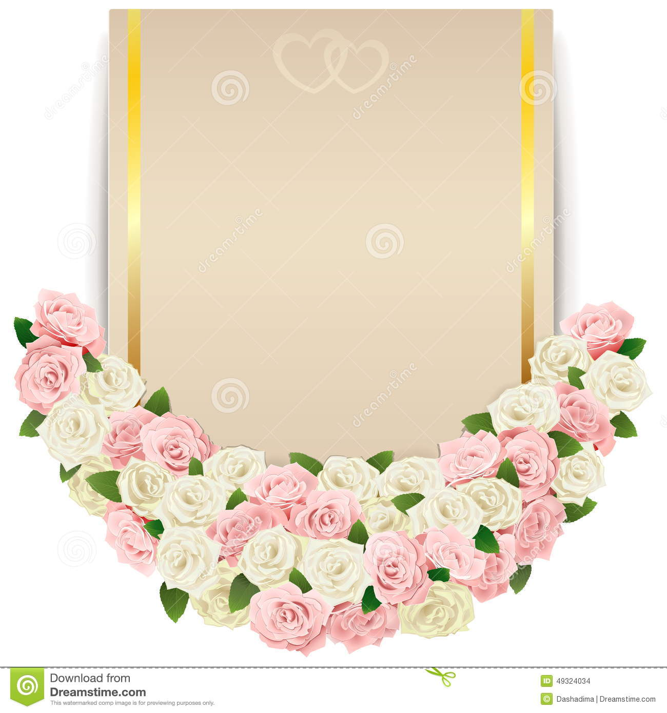 Vector Wedding Flower Card Stock Vector Image
