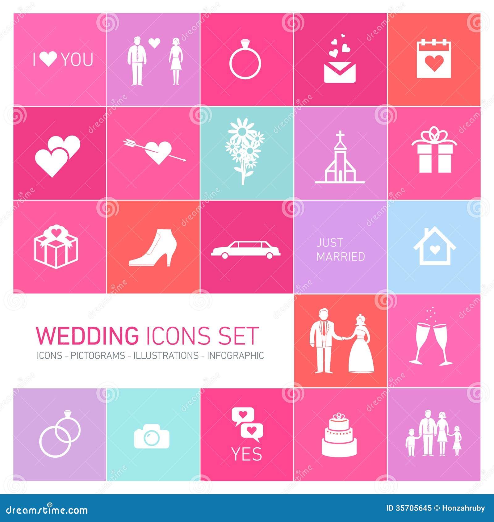 Vector Wedding Icon Set Stock Illustration Image Of Icon