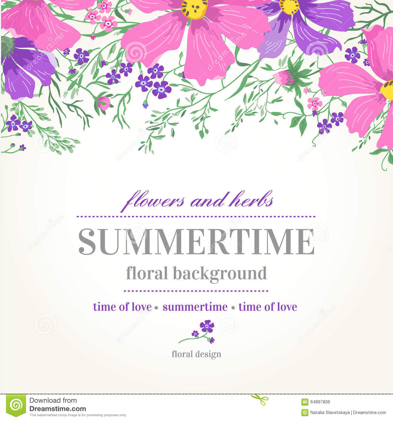 Download Pink Flower Wedding Vector Invitation Flowers: Vector Wedding Invitation And Background With Flowers