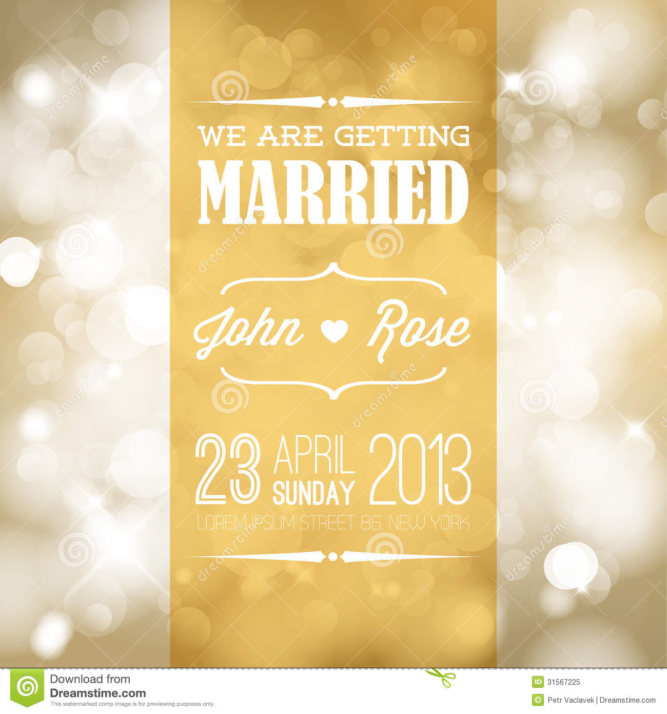 Vector Wedding invitation stock vector. Illustration of artwork ...