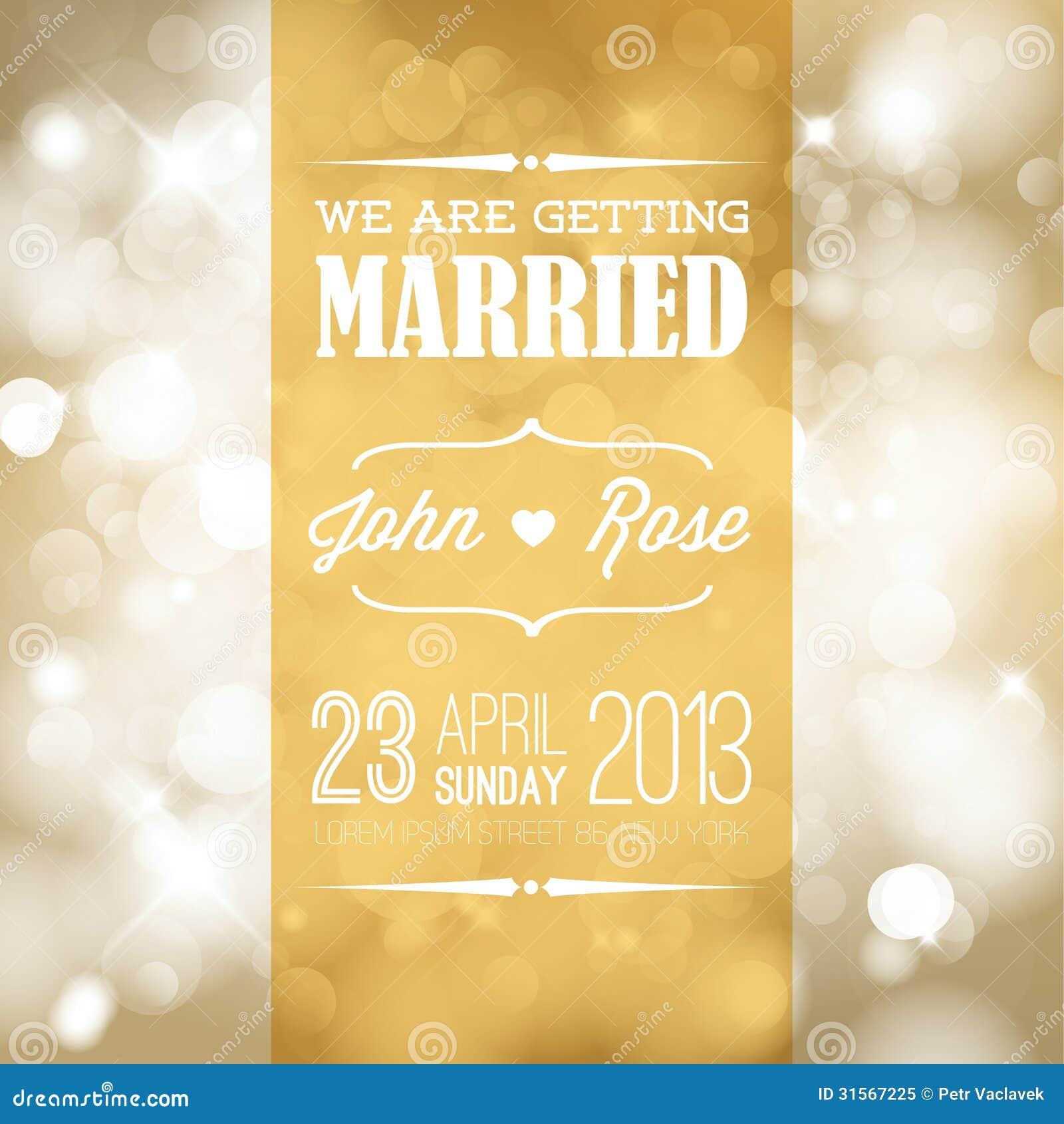 Vector Wedding Invitation Royalty Free Stock Photo - Image: 31567225