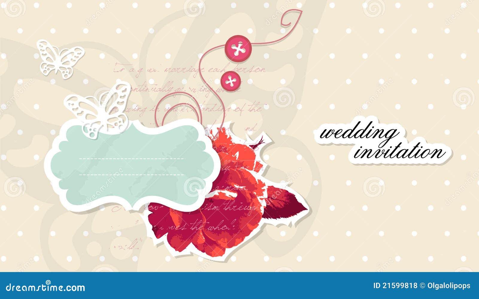 Vector Wedding Invitation Scrapbooking Card Stock Vector ...