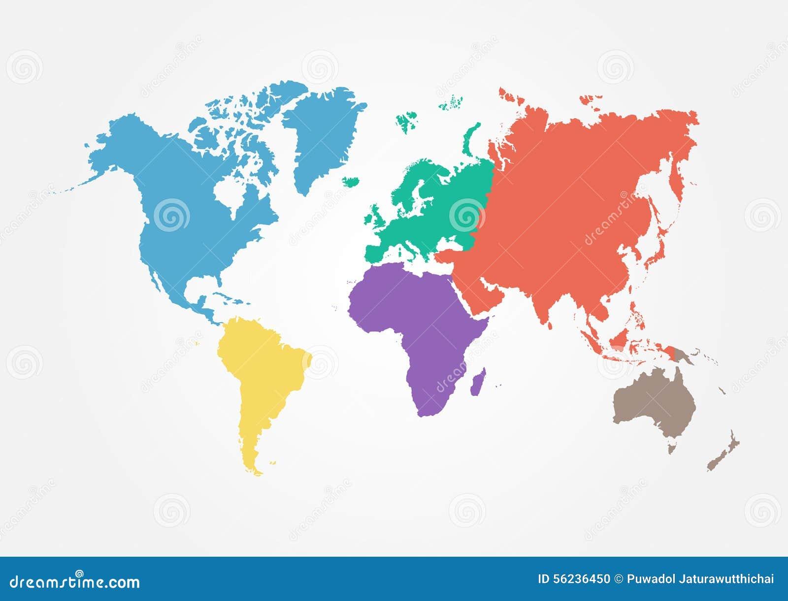Map Pin In A Map Free Vector Instantshift Beautiful Free: Vector Weltkarte Mit Kontinent In Der Unterschiedlichen