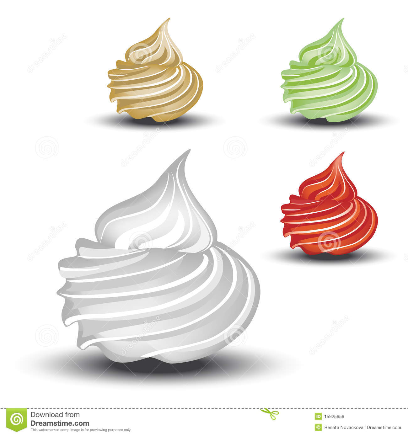 Vector Whipped Cream Royalty Free Stock Image Image 15925656