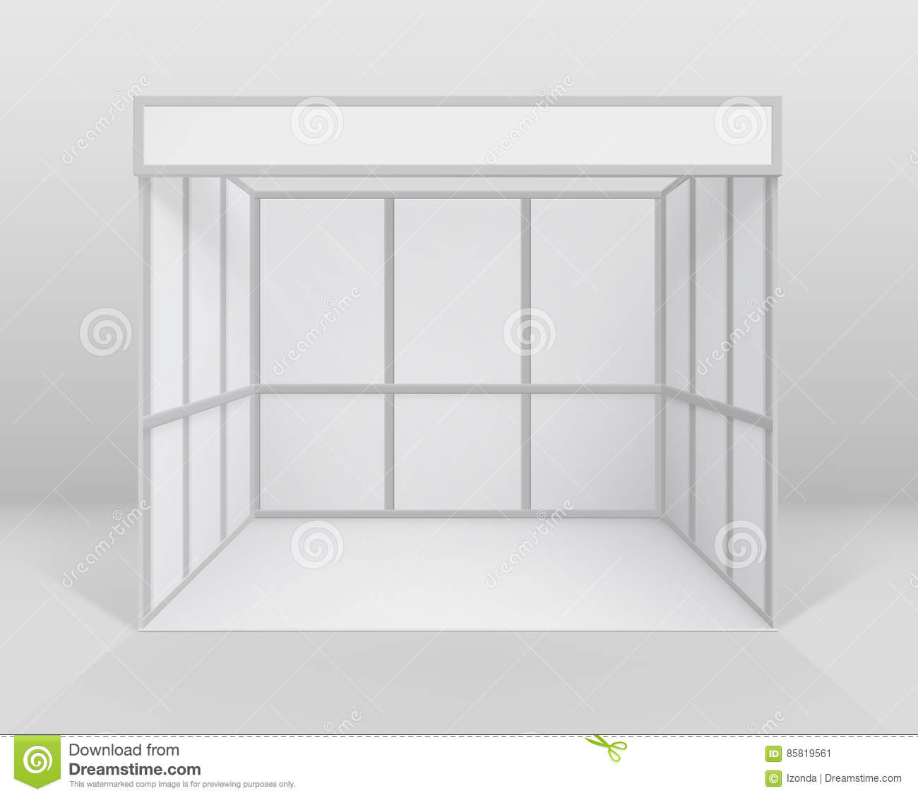 Exhibition Stand White : Blank white trade exhibition stand vector illustration