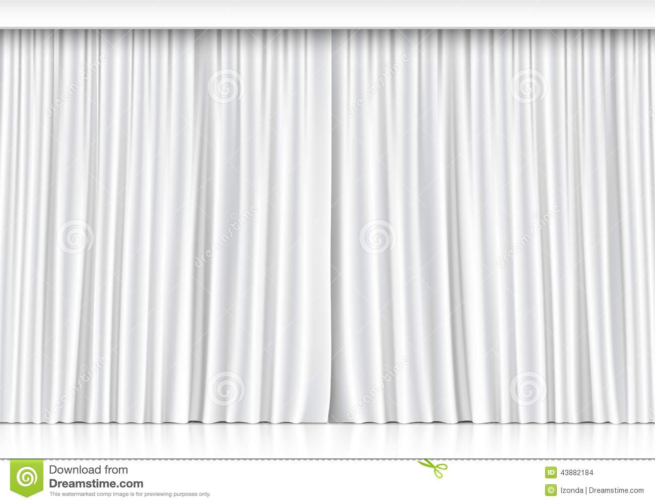 Vector White Curtains Isolated On White Background Stock Vector Image 43882184