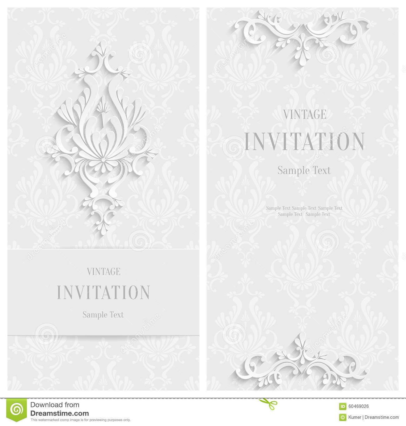 vector white floral 3d background template for christmas