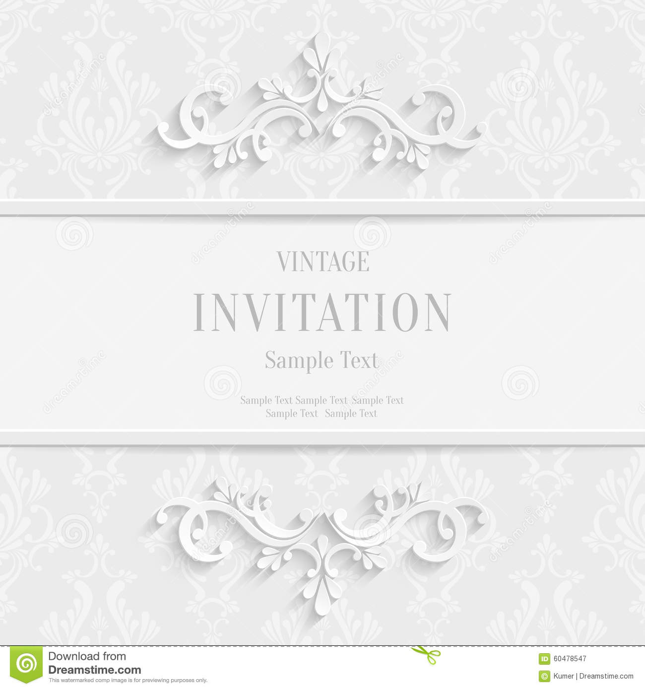 vector white floral d christmas invitation cards background stock vector white floral 3d christmas invitation cards background