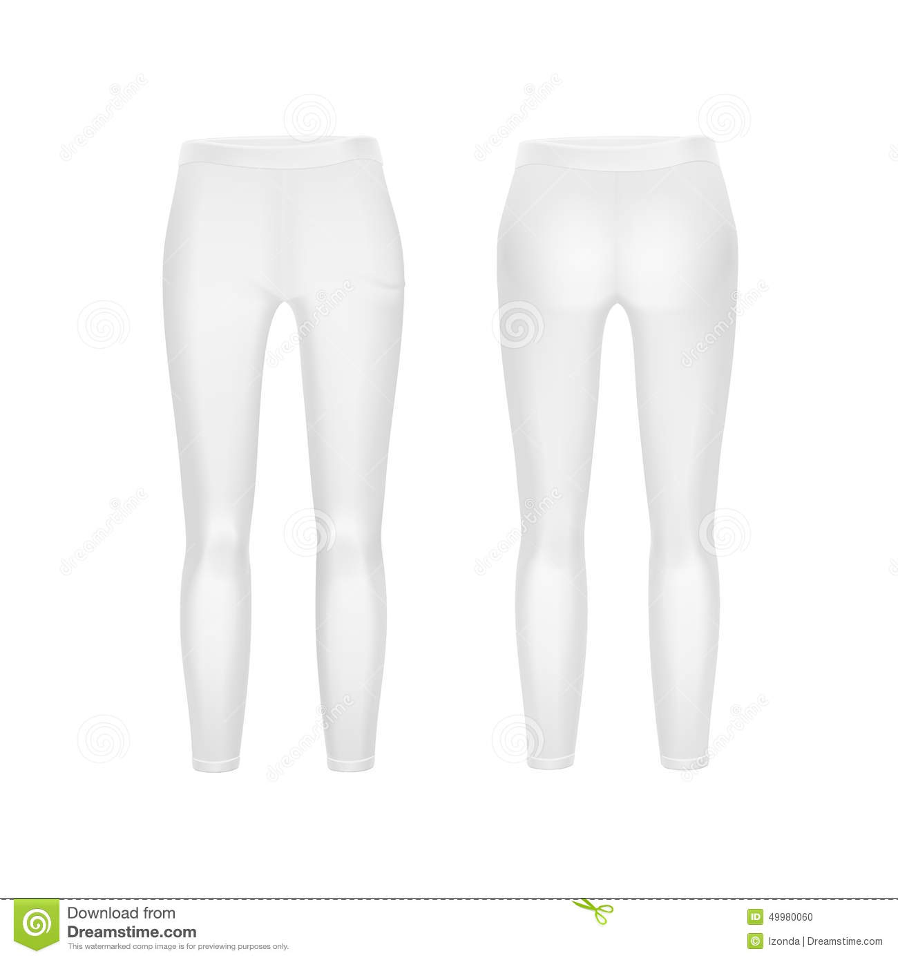 temperament shoes special discount of buy sale Vector White Leggings Pants Isolated On Background Stock ...