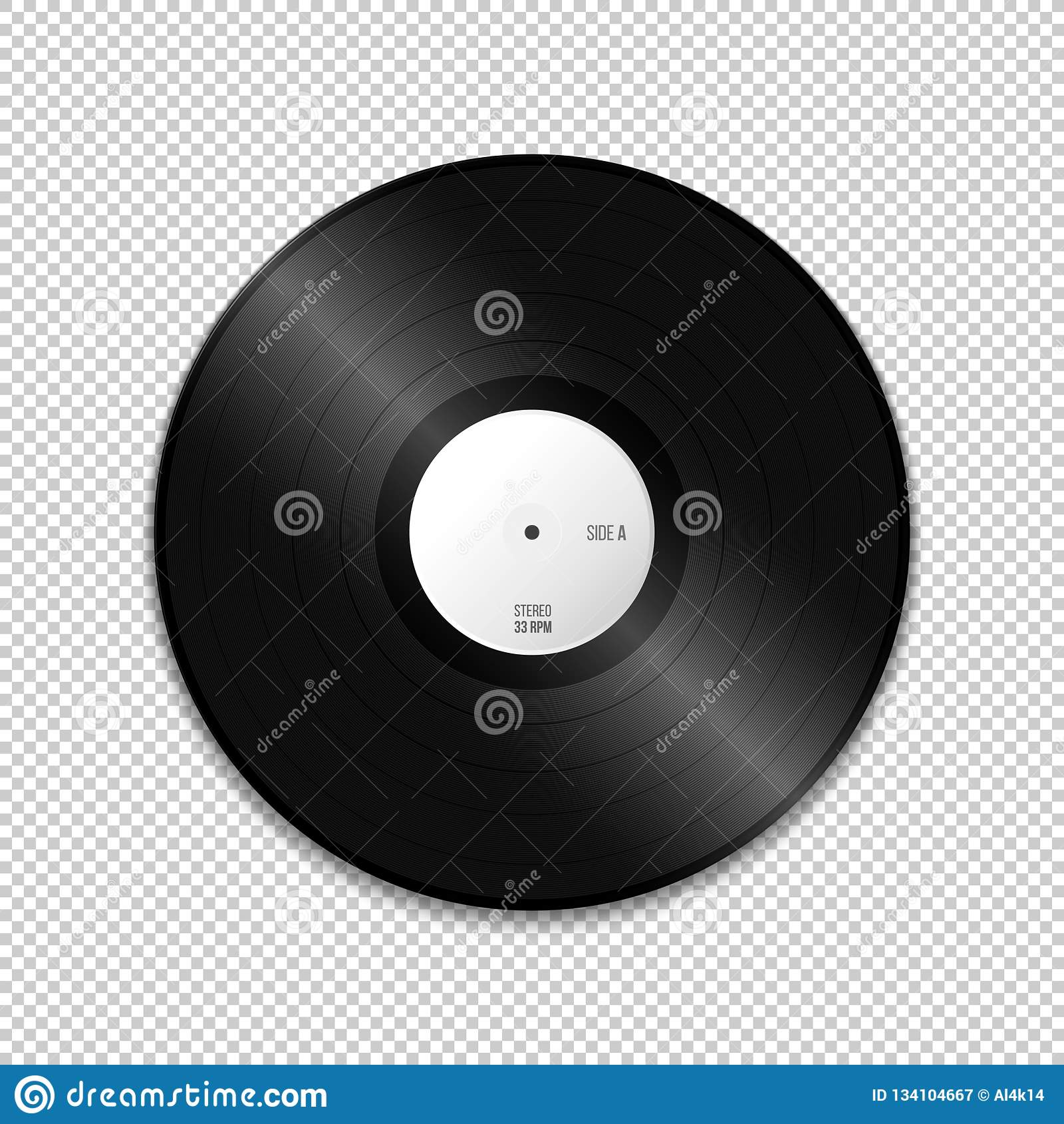 vector blank vinyl record mockup stock vector illustration of acoustic disk 134104667 https www dreamstime com vector white paper label lp vinyl record blank mock up realistic illustration shadow template design isolated transparent image134104667