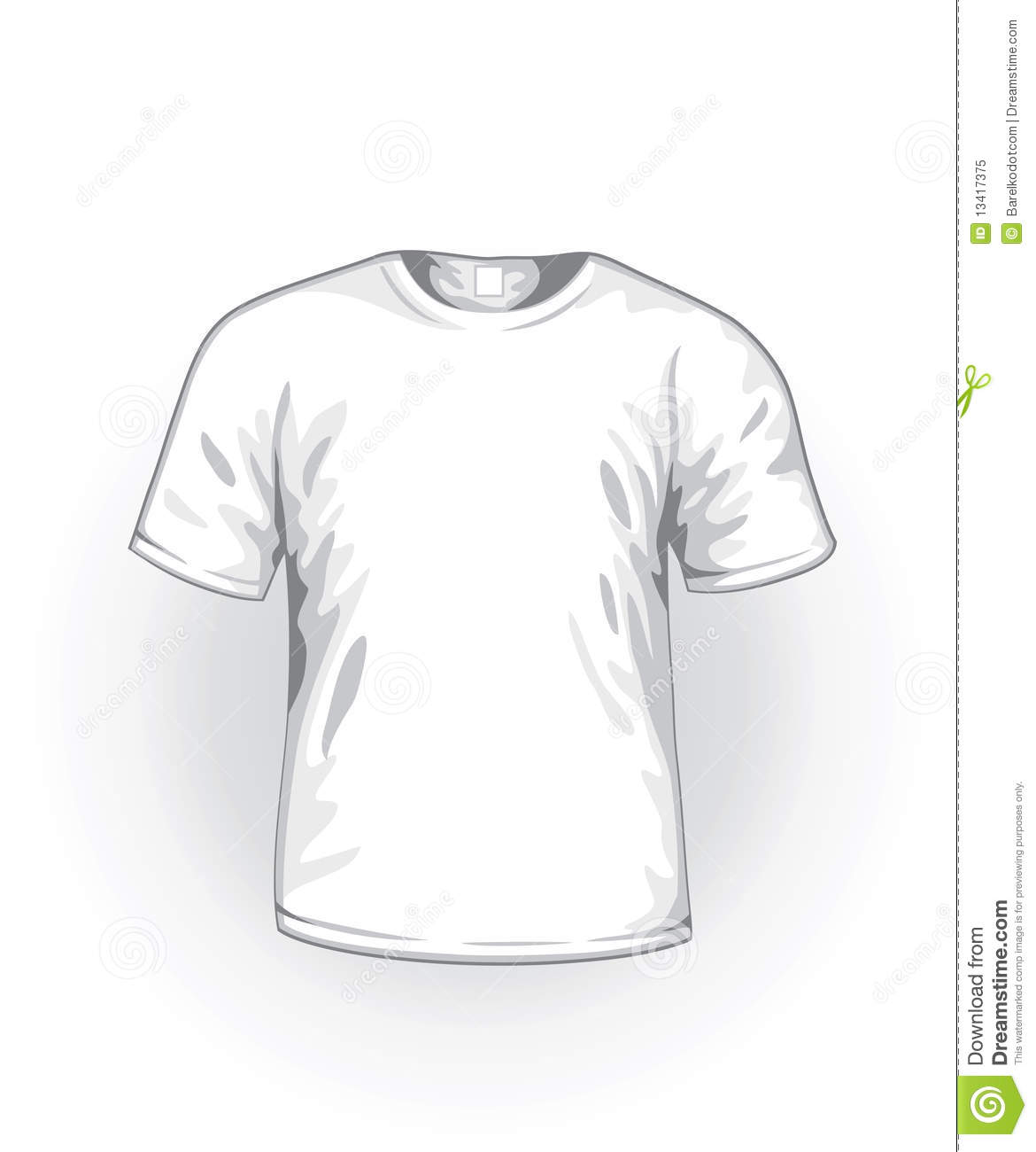Vector White T Shirt Royalty Free Stock Photo Image