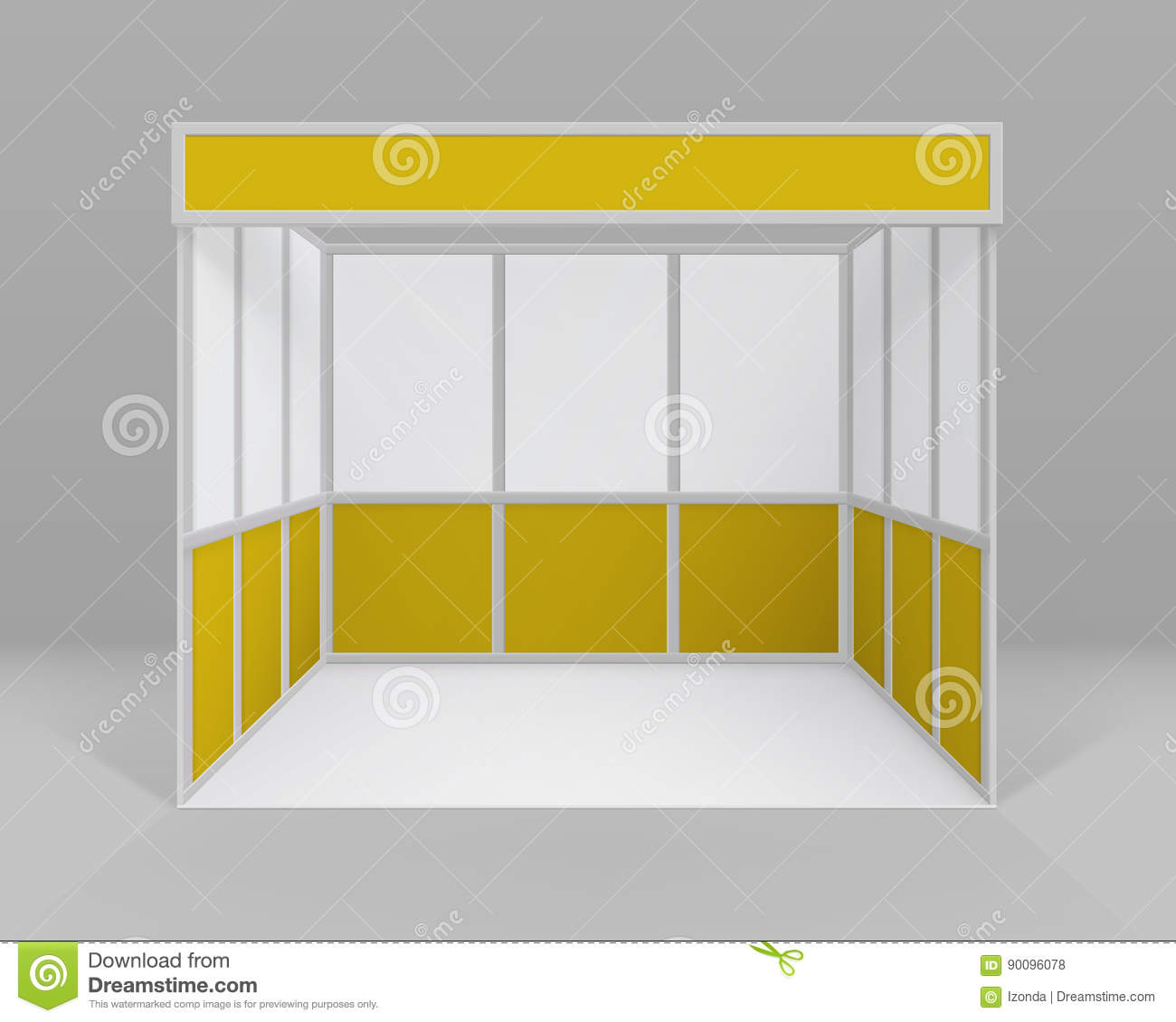 Blank Exhibition Stand Vector : Blank white trade exhibition stand vector illustration