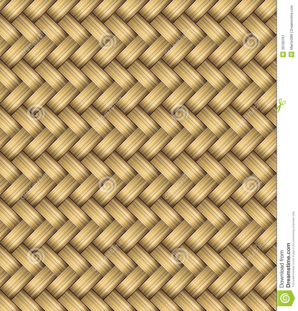 Vector Wicker Placemat Seamless Stock Illustration Image
