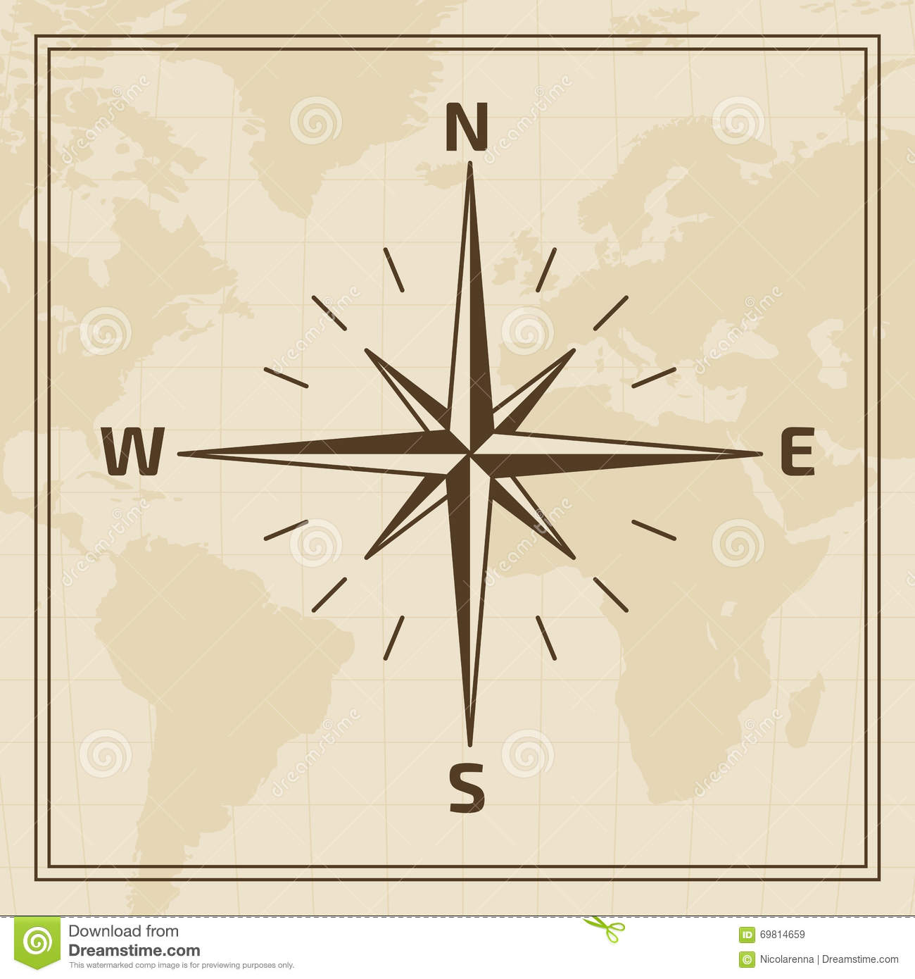 Vector Wind Rose On A World Map Background Stock Vector ... on rose color, rose date, rose print, rose path, rose tree, rose street, rose kill,