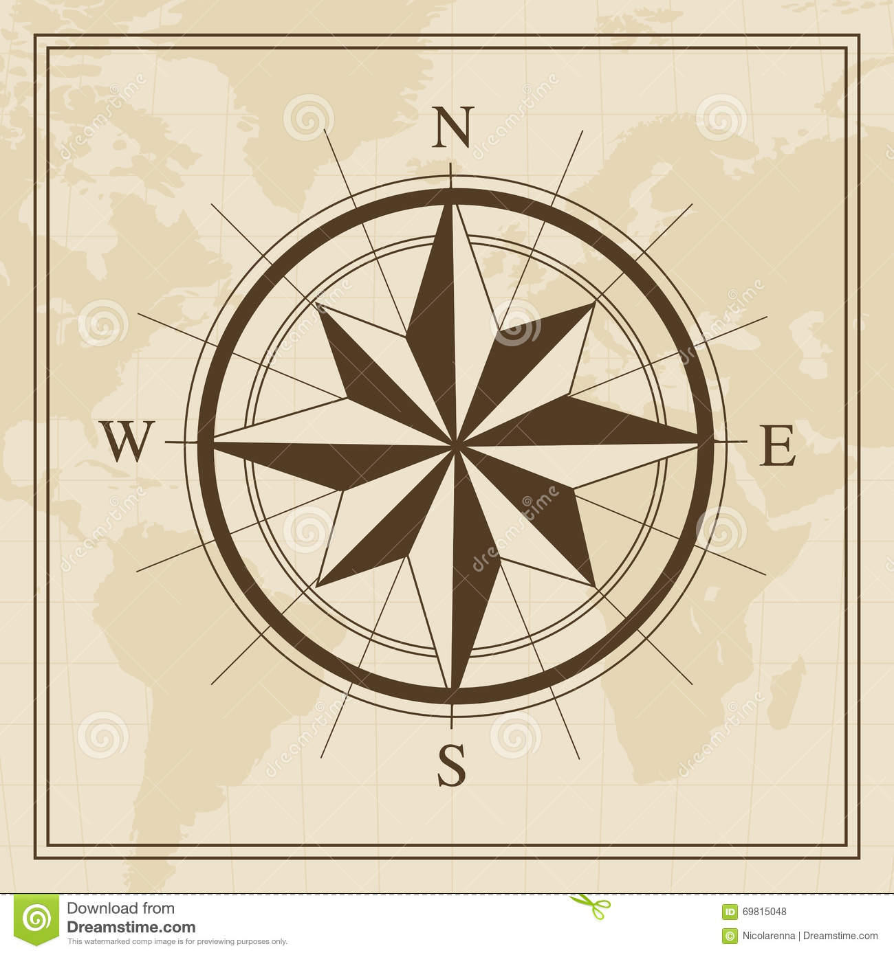 Vector wind rose on a world map background stock photo image of vector wind rose on a world map background adventure arctic gumiabroncs Images