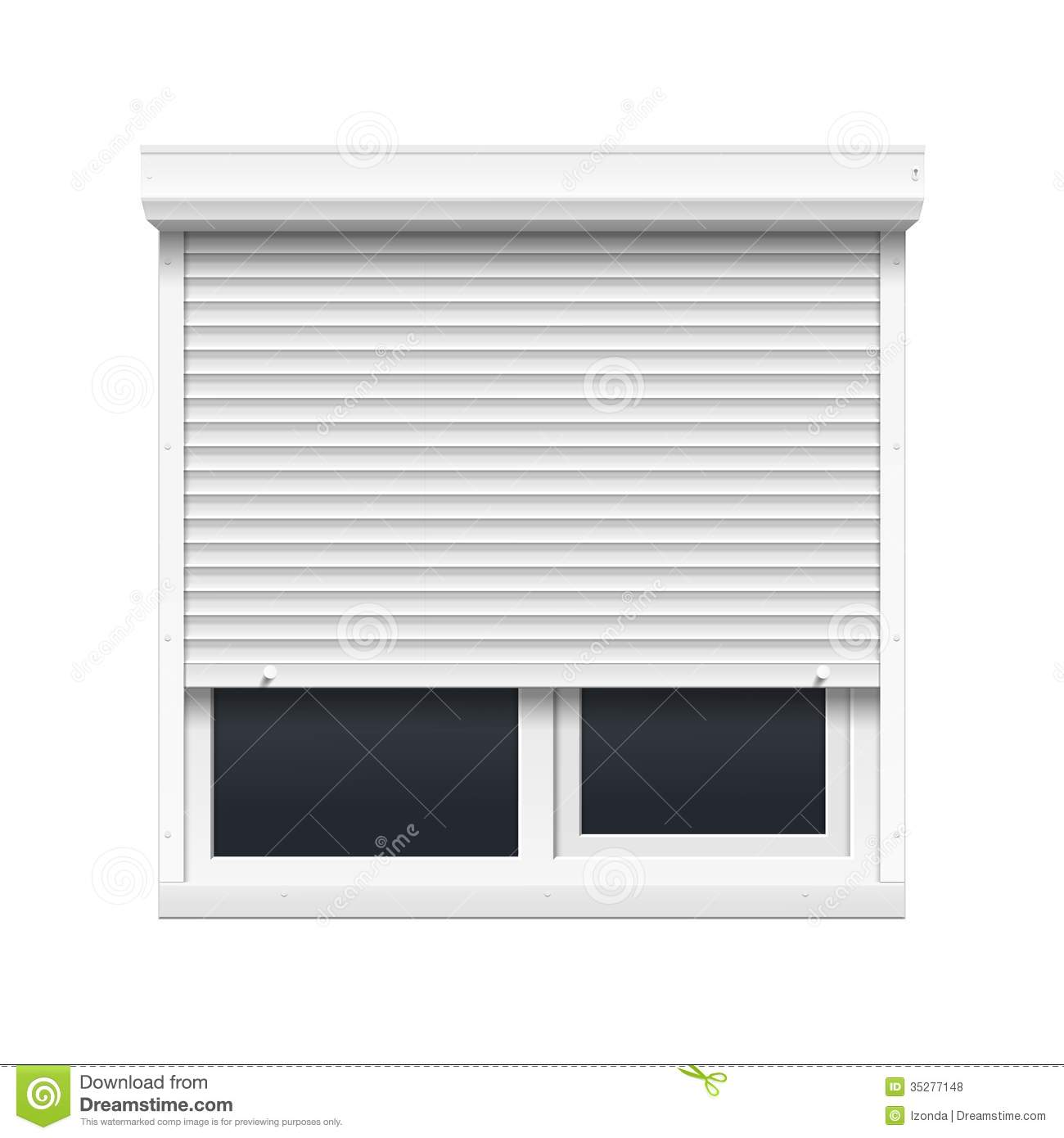 Vector Window With Rolling Shutters Royalty Free Stock ...