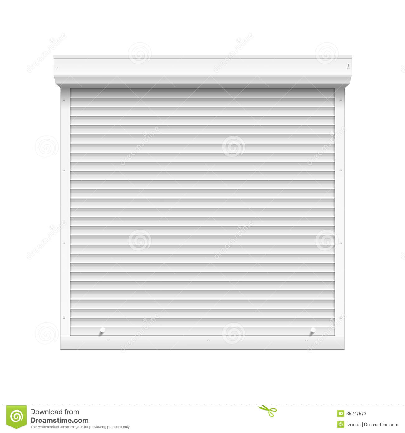 Vector Window With Rolling Shutters Stock Photos Image