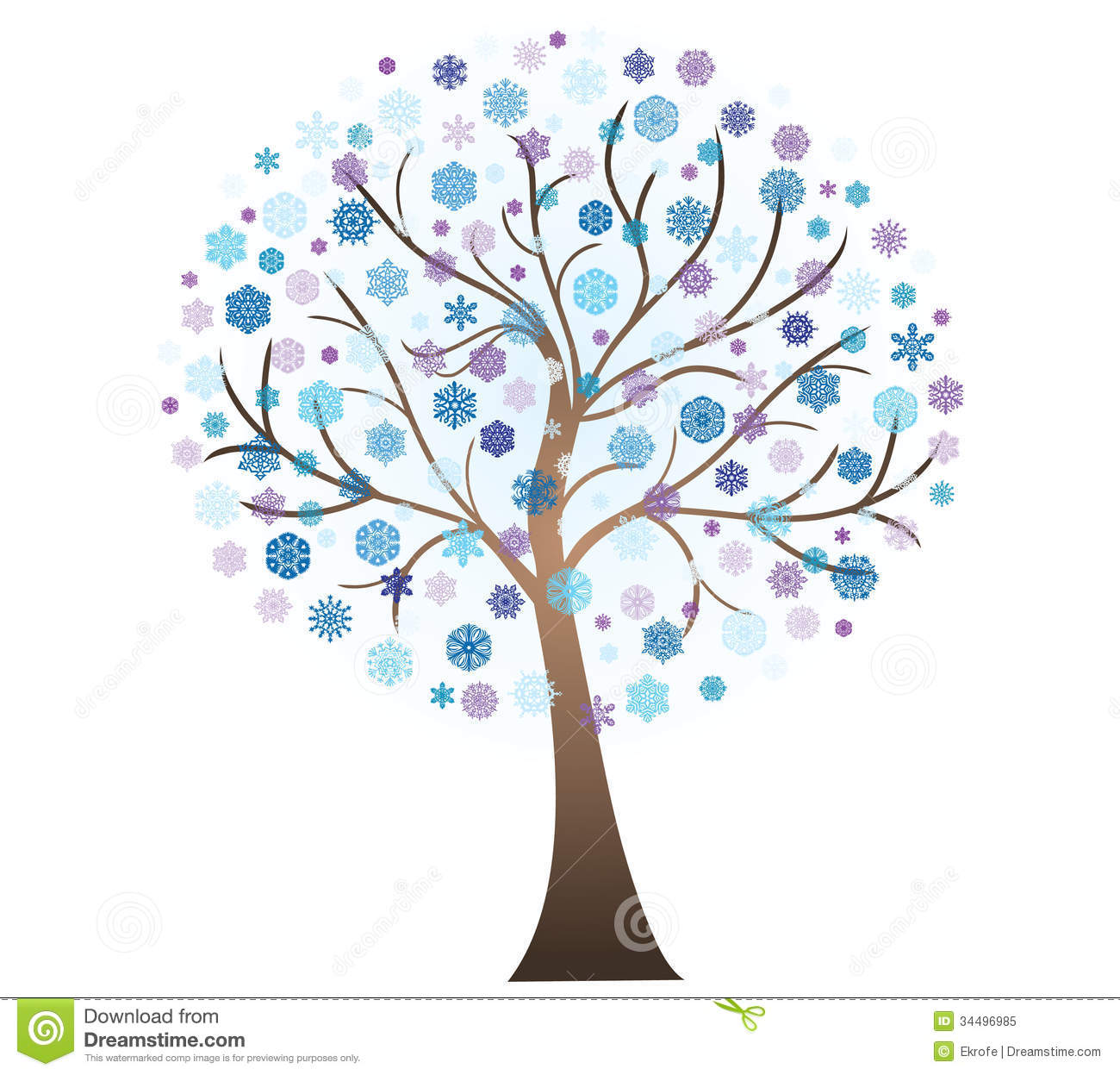 Vector Winter Art Tree Royalty Free Stock Photo Image 34496985