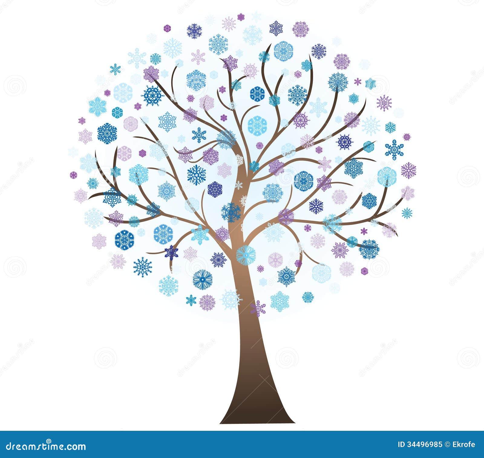 Vector Winter Art Tree Royalty Free Stock Photo Image