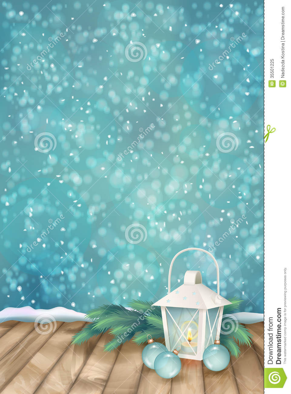 Vector Winter Christmas Scene Background Royalty Free Stock Photo Image 35501225
