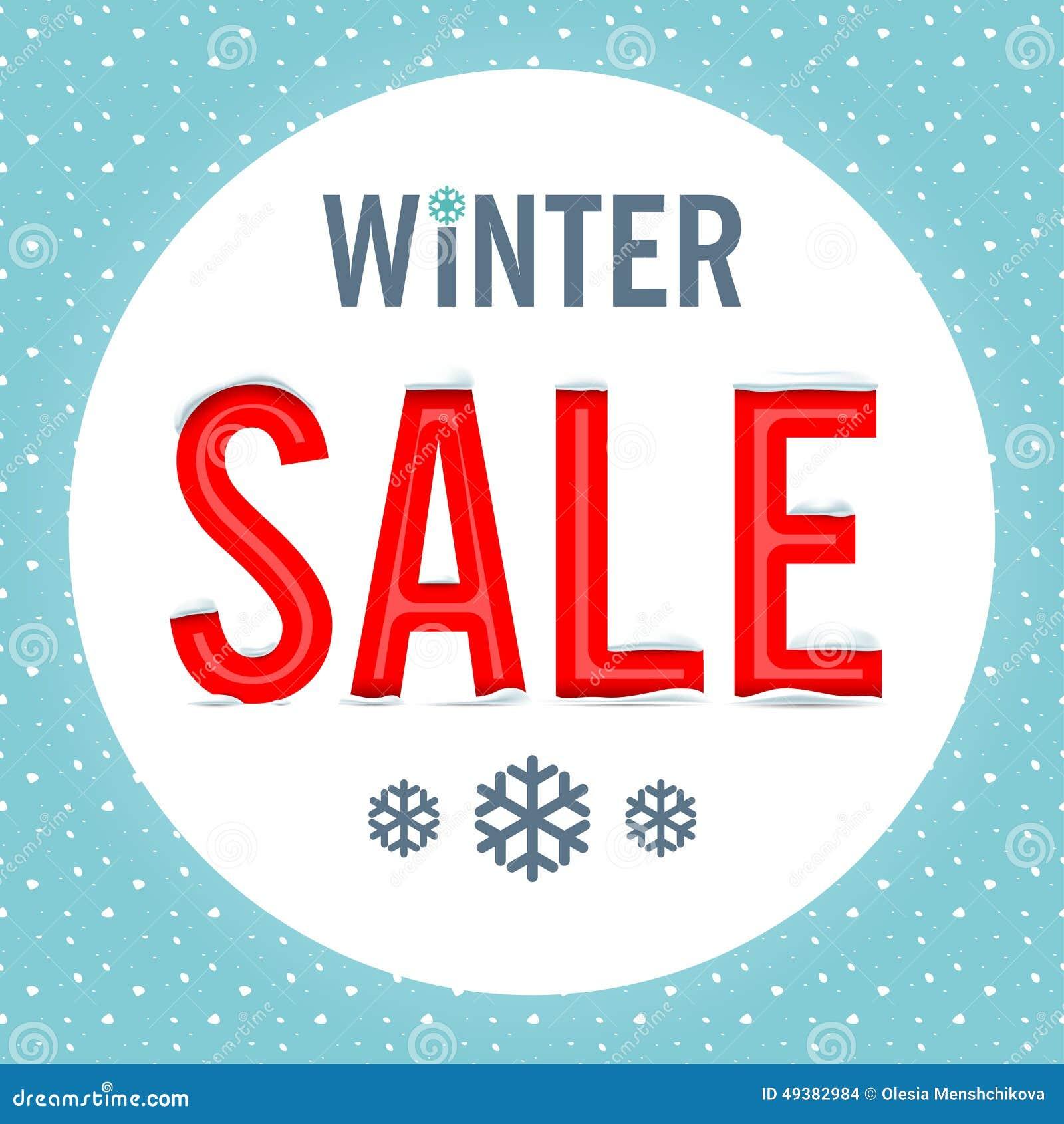 Vector. Winter sale