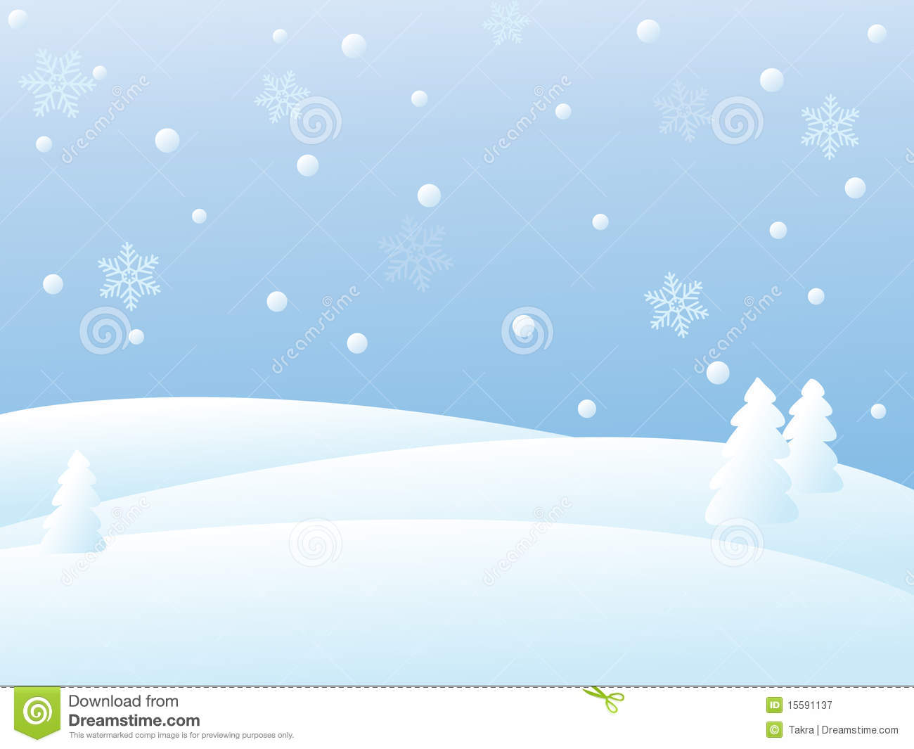 Vector Winter Scene Royalty Free Stock Photography - Image ...